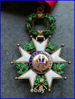 Médaille Commandeur Légion D Honneur Avec Ruban Origine Boucle Relief IV republi