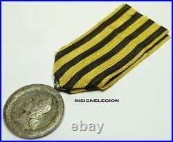Medaille Commemorative D'expedition Du Dahomey 1892 En Argent / N°476
