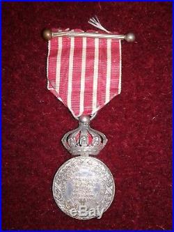 Medaille Commemorative De La Campagne D'italie Avec Couronne Imperiale