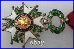 Médaille Croix Chevalier Légion d'Honneur 1870 Fab. AUCOC de luxe en boite WWI