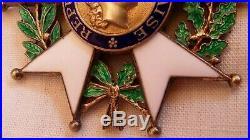 Médaille Croix Commandeur LÉGION d'HONNEUR 4° république Argent Vermeil Boite