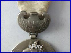 Médaille Croix-Rouge Française Union Femmes France Guerre 14 18 Alsace 21482