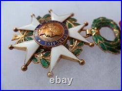 Médaille Croix en or 18k Officier Légion d'Honneur 1870 Guerre 1914-18 ORIGINAL