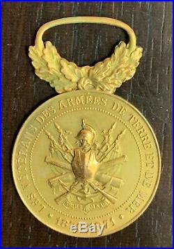 Medaille D'honneur Veterans Des Armees De Terre Et De Mer 1870-1871 En Or
