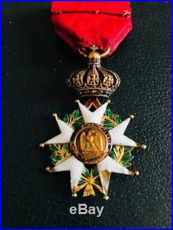 Médaille D'officier De La Légion D'honneur En Or Époque Second Empire