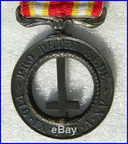 Medaille De Castelfidardo Attribuee Sur La Tranche