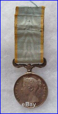 Médaille De Crimee 1854 Argent Napoleon III Original GB Crimea Medal 2° Empire