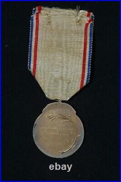 Medaille De La Reconnaissance Francaise 1917 (vermeil)-grande Guerre 1914/1918
