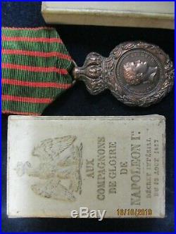 Medaille De Saint Helene + Boite