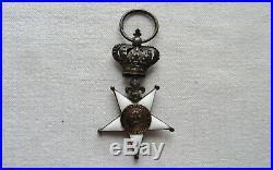Médaille Décoration Ordre Croix Fidélité Garde Nationale Profil Louis XVIII 1814