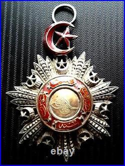 Médaille Empire Ottoman, ordre du Medjidié, Argent et vermeil, 59 mm, 1852-1922