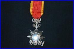 Medaille Etoile De Chevalier Dragon D'annam Pharmacien Marine-indochine Marine