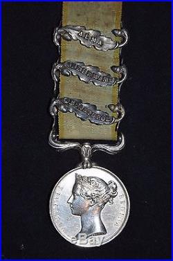 Medaille Guerre De Crimee 1854/56 Signee Wyon-agrafes Sebastopol-inkermann-alma