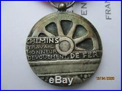 Medaille Honneur Des Chemins De Fer Coloniaux/sncf Indochine Francaise