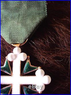 Médaille Italie Ordre Des Saints Maurice Et Lazare Croix De Chevalier En Or