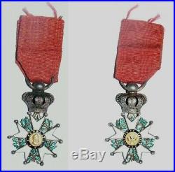 Médaille Légion d'Honneur Henri IV avec certificat de 1817