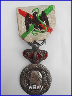 Médaille MEXIQUE avec Couronne / CENT GARDES