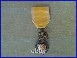 Médaille MILITAIRE modèle dit des GÉNÉRAUX BIFACE AUX CANONS Très bombée 7mm