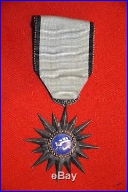 Medaille Merite Militaire Thaï-etoile De Chevalier-guerre D'indochine