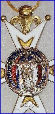 Médaille Militaire Croix de l'Ordre de Saint Louis Monarchie French Medal Or