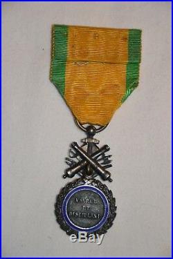 Medaille Militaire Millesimee 1870-variante Trophee Biface Aux Canons-1880/1900