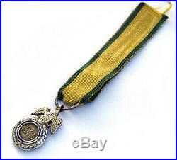Médaille Militaire Napoléon III°. Miniature. Argent. Ruban d'origine RARE