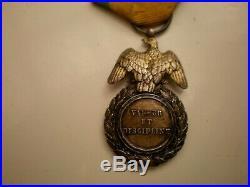 Médaille Militaire Second Empire 2e type Argent bon état belle patine