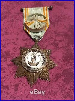Medaille Officier Ordre Royal De L'etoile D'anjouan Comores Argent