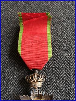 Médaille Ordre Royal Du Cambodge Insigne D'officier Argent Et Or