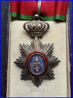 Médaille Ordre Royal Du Cambodge Insigne De Commandeur Vermeil + Écrin