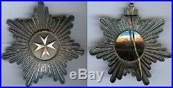 Médaille Ordre de Malte EE plaque de poitrine