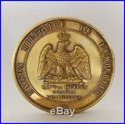 Medaille Vermeil Maison Militaire de l'Empereur Officier d'ordonnance Napoléon