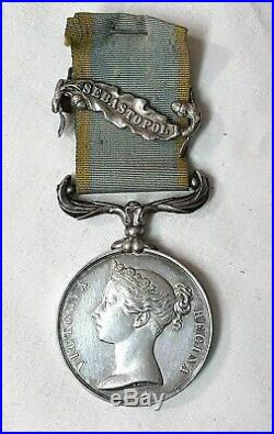 Médaille Victoria Regina 1854. Criméa. Guerre de Crimée. Napoléon III. Argent