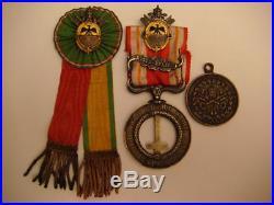 Médaille Zouaves pntificaux flot avec médaille (ou insigne) armes pontificale