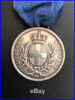 Médaille al valore militare Chef De Bataillon 1er Zouaves 1855 En Argent