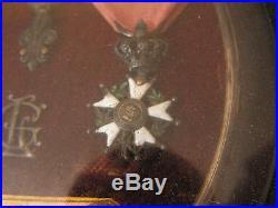 Medaille cadre ordre militaire st louis or ordre du lys et legion honneur