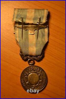 Médaille coloniale 1er type en argent barrette Cochinchine tonkin indochine 1884