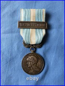 Médaille coloniale agrafe à clapet Iles de la Société