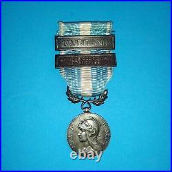 Médaille coloniale argent Lemaire barrette à clapet Mauritanie
