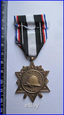 Médaille combats de l'AISNE 1914- 1918 french ww1 medal