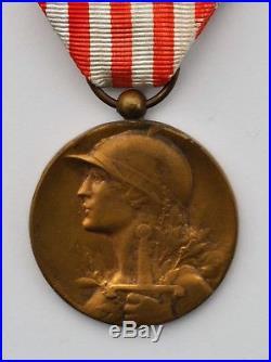 Médaille commémorative 1914-1918, rare modèle rond