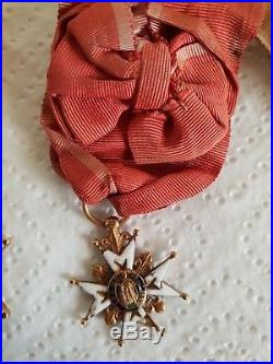 Médaille croix de l' ordre de st louis en or vers 1693 (lm)