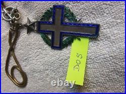 Médaille croix pectorale d'aumonier + cordelière guerre 1914 1918 armée de terre