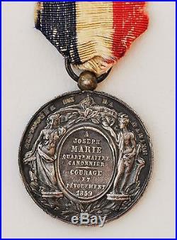 Médaille d'Honneur des actes de Courage, Ministère de la Marine, 1859