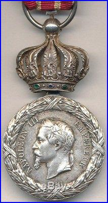 Médaille d'Italie 1859 à couronne Impériale