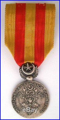 Médaille d'honneur de la police tunisienne TUNISIE 1928 France medal french