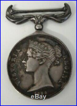 Médaille de Crimée Anglaise 1854, demi-taille en argent massif