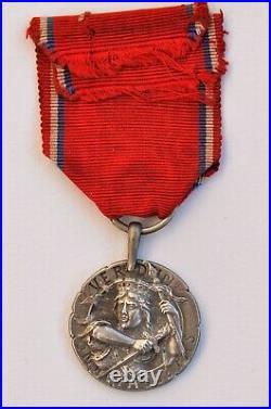 Médaille de Verdun 1914-1918, modèle de Révillon, en argent