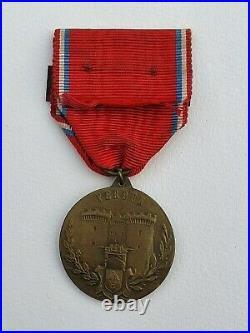 Médaille de Verdun, modèle d'Augier, avec sa barrette