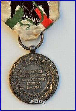 Médaille de l'expédition du Mexique, 1862-1863, Barre, parfait état